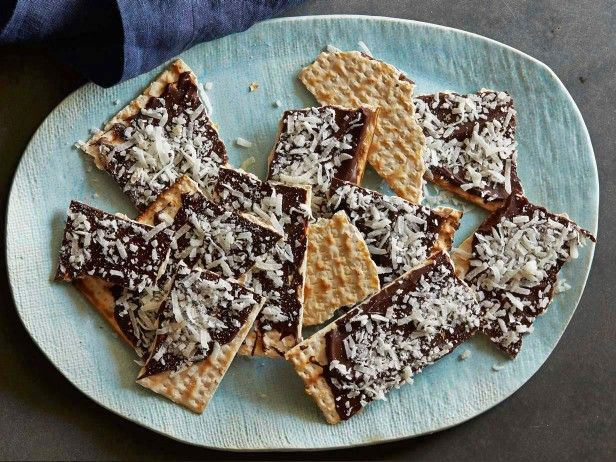 Chocolate Coconut Matzo Bark