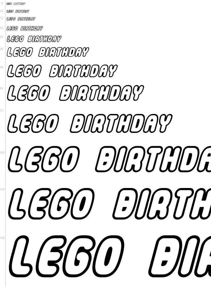 "Free ""LEGO"" font."