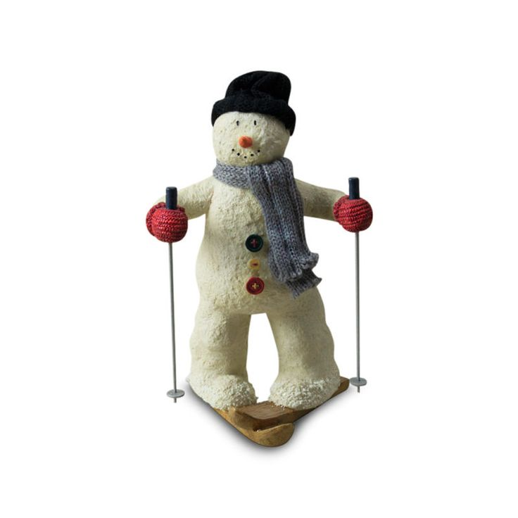 Russ Berrie Sno-Day Memories Snowman Skiing Figure - http://home-garden.goshoppins.com/holiday-seasonal-decor/russ-berrie-sno-day-memories-snowman-skiing-figure/