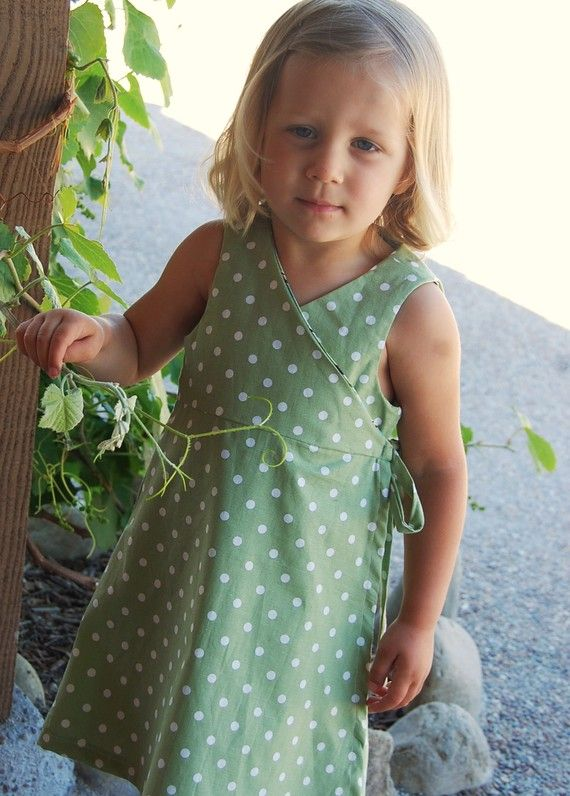 Kate Wrap Around Dress (Size 6-9 months to Size 6) Sewing E-Pattern and Tutorial from etsy seller sewsweetpatterns