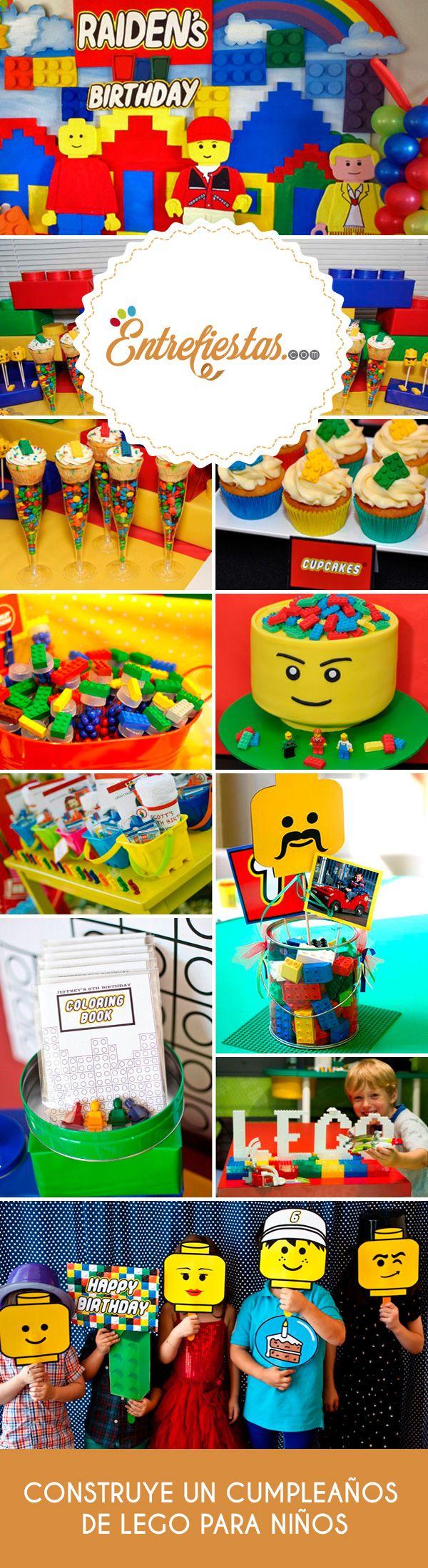 Un cumpleaños inspirado en Lego es una excelente opción que llenará de color la fiesta mientras combina ese día tan especial con una de las grandes pasiones de todo chico: construir su propio juego. No lo dudes más y atrévete a usar este juego que ha seducido a varias generaciones para armar en tu fiesta una experiencia sin igual.