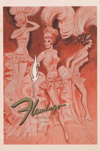 Vintage Flamingo menu las Vegas
