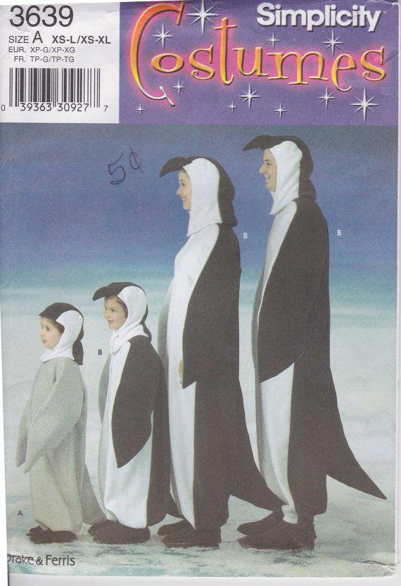 Penguin Costume Pattern Kids XS to L Adult XS by PrettyfulPatterns