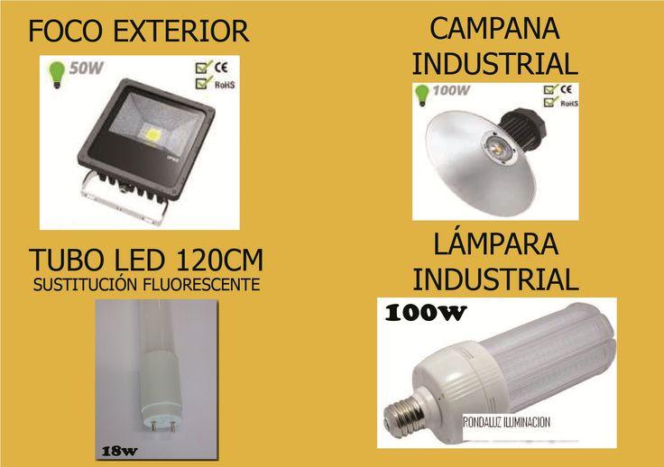 OFERTA BOMBILLA LED INDUSTRIAL !!!! AHORRE hasta un 80% de consumo en la iluminación  con la instalación de bombillas y lamparas LED y aproveche nuestras OFERTAS llamando a nuestra tienda 958050026 para realizar su PEDIDO.   FOCO EXTERIOR  45.95€  //  CAMPANA INDUSTRIAL 139€    // TUBO LED 20 cm 11.99€   (para los tubos de leds pedido mínimo 10 unidades ) // LAMPARA INDUSTRIAL 100w: 99.99€
