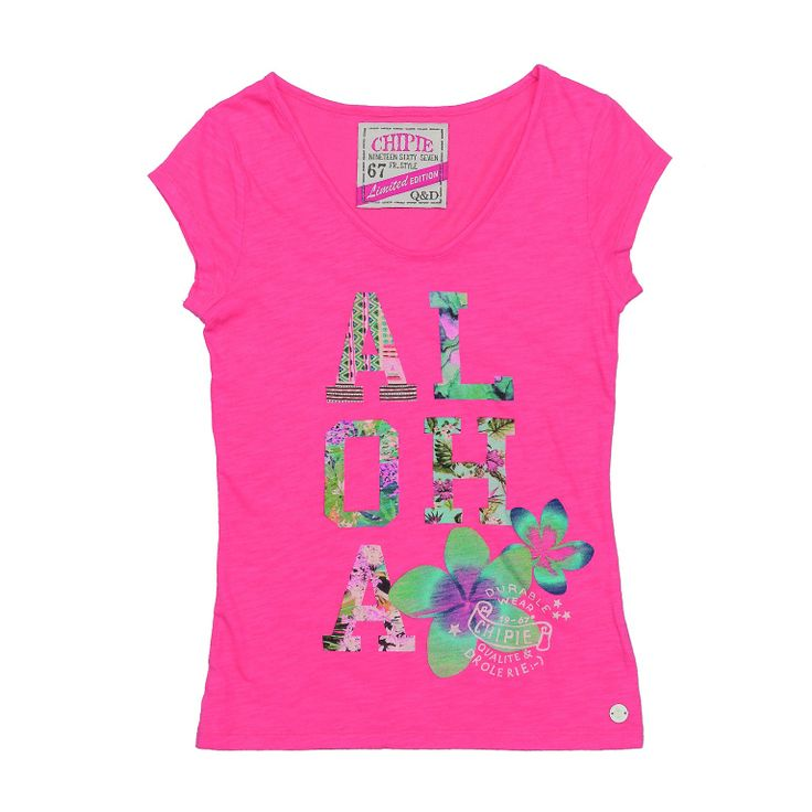 Chipie Junior shirt for girl. Hawaian style | Chipie | Offemily #kidswear