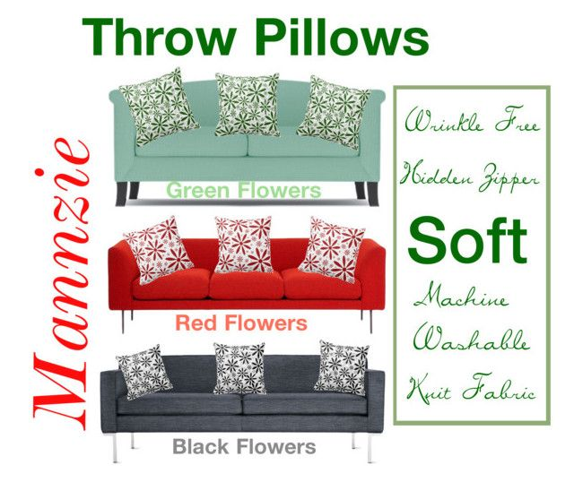 """Flowers Throw Pillows"" by mannzie on Polyvore featuring #interior, interiors, #ThrowPillows #interiordesign, home, #homedecor, #interiordecorating and #livingroom"