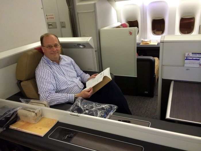 """#Air China's 'Forbidden Pavilion"""" http://www.travelingwiththejones.com/2014/03/24/experiencing-air-chinas-forbidden-pavilion-first-class-flight-service/"""