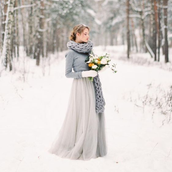 25 Grey Winter Wedding Ideas You'll Love