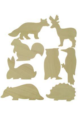 British Wildlife Wooden Templates