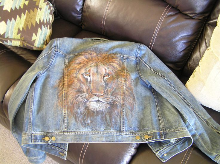A Friend Commissioned Me To Paint A Lion On The Back Of
