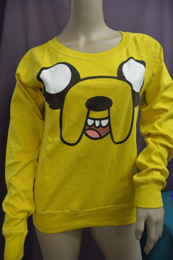 Womens Reversible Adventure Time Crew Sweatshirt Shirt Xs, M, L, Xl, 3Xl