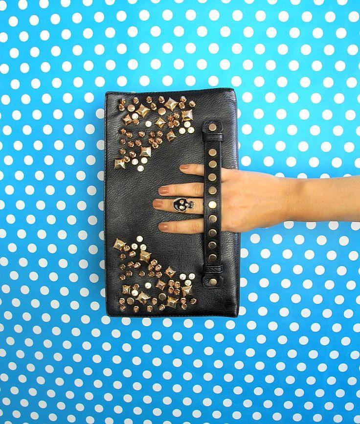 Studded clutch, spike bag