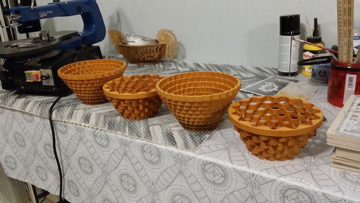 4. Корзинки из фанеры How to make a Bowl (basket)