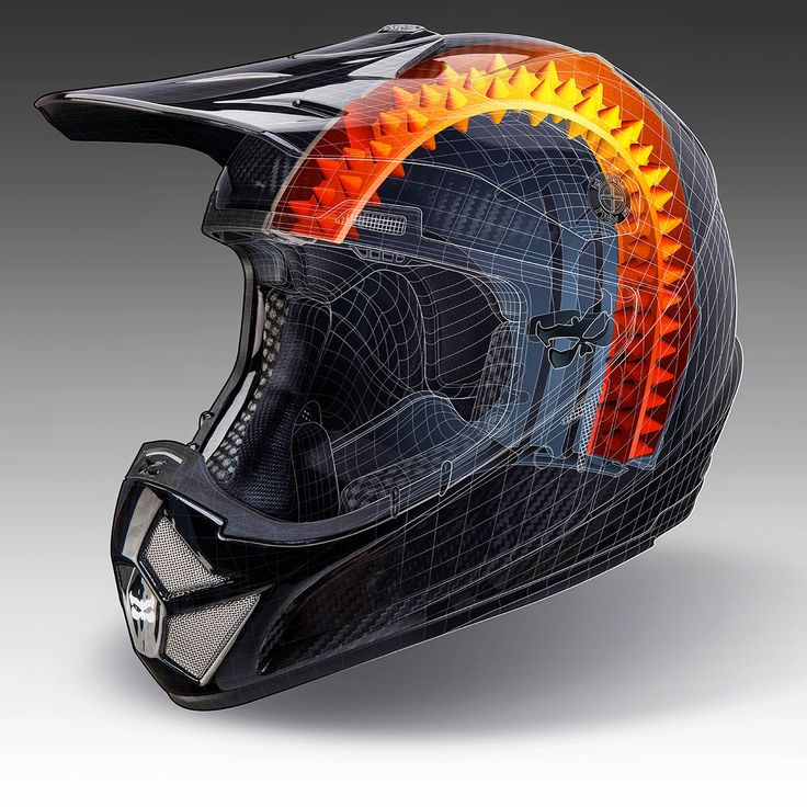 Kali helmet technical illustration