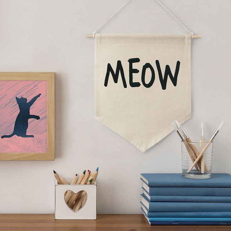 Flâmula de tecido - Meow