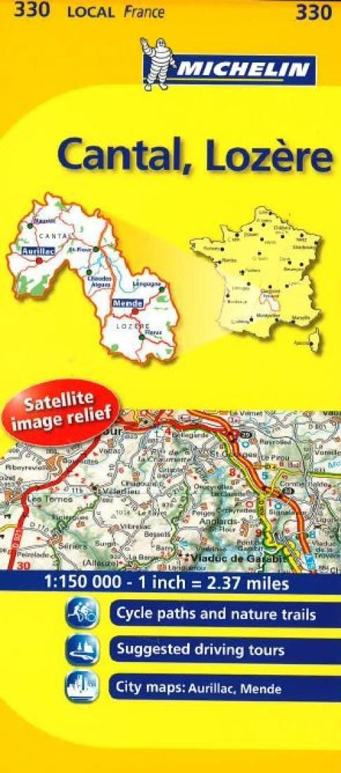 Cantal Lozre, France (330) by Michelin Maps and Guides