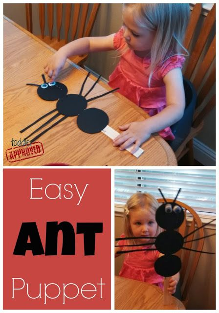 Easy Ant Puppet & Snack {Bug Week}