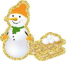блестящий снеговик