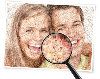 Easy Moza is a free online program with which you can easily make your own photo mosaic. Download the result and print it however and wherever you like.