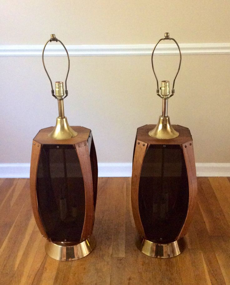 A personal favorite from my Etsy shop https://www.etsy.com/listing/201307231/mid-century-modern-lamp-set