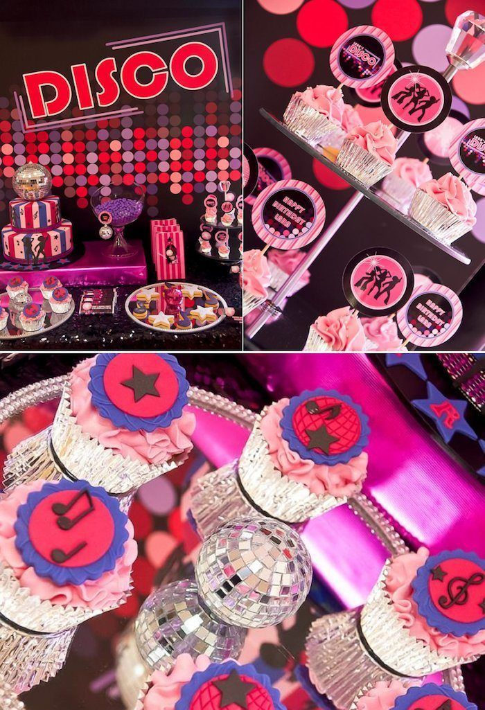 Disco themed birthday party via KarasPartyIdeas.com - THE place for all things party!