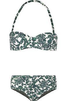 Tory Burch Issy printed underwired bikini   NET-A-PORTER