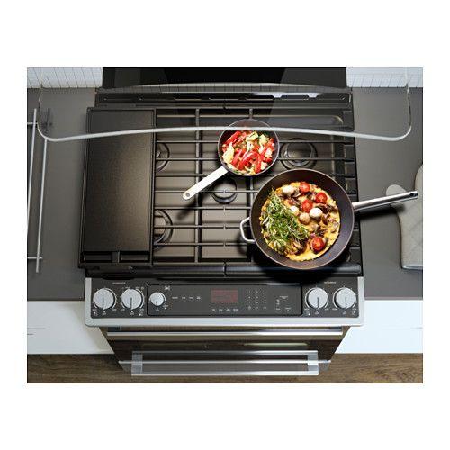 nutid slidein range with gas cooktop stainless steel