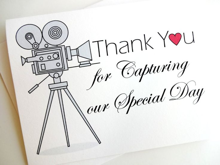 Wedding Videographer Thank You Card for Wedding Video by lilcubby