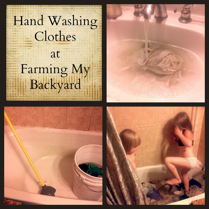 There are several ways of hand washing clothes and the method you choose to use can vary based on the items you need washed and the resources available to you. Three hand washing methods I use regularly are the bucket and plunger, the grape stomp method, and in the sink.