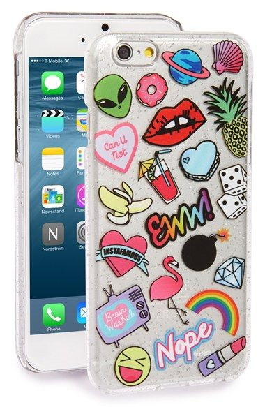 Free shipping and returns on Skinnydip 'Doodle' iPhone 6 & 6s Case at Nordstrom.com. Make a statement with a vibrant, glittery case designed to protect and display your favorite tech.