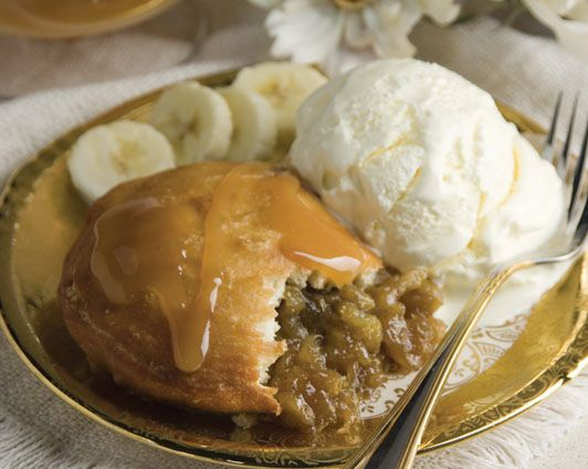 Bananas Foster Medallions The original Bananas Foster recipe was created in 1951 by Paul Blangé for Brennan's Restaurant in New Orleans. Rhodes' version of this classic dish is simply delicious-especially when topped with rich vanilla ice cream! #rhodesbread
