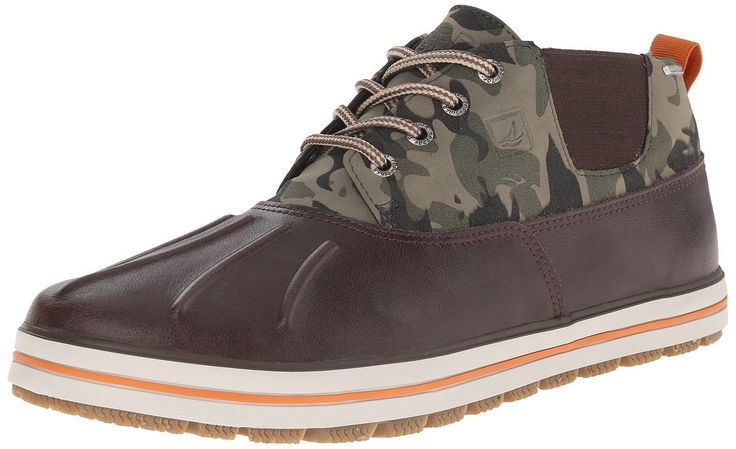 Sperry Top-Sider Men's Fowl Weather Chukka Rain Shoes Brown/Camo Size 8.0M