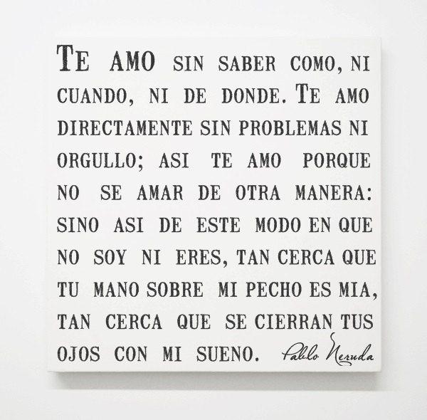 Pablo Neruda Love Poem Canvas Spanish Quotes by SapphoandTheMoon