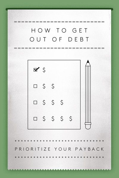 How To Get Out Of Debt — And Stay Out! #refinery29  http://www.refinery29.com/get-out-of-debt#slide-2  Prioritize Your Payback Armed with these details, make a payback priority list. Then, pay as much as you can toward your debt. One option is to pay back your debt by tackling the highest interest rates first. The higher the rate, the greater priority it should be to pay this back. This is the financially smarter strategy, since you pay less in interest to your creditors.<b...