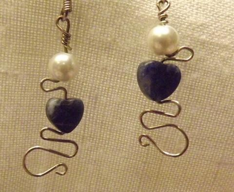 Sodalite Hearts | Designs by Katie Rose