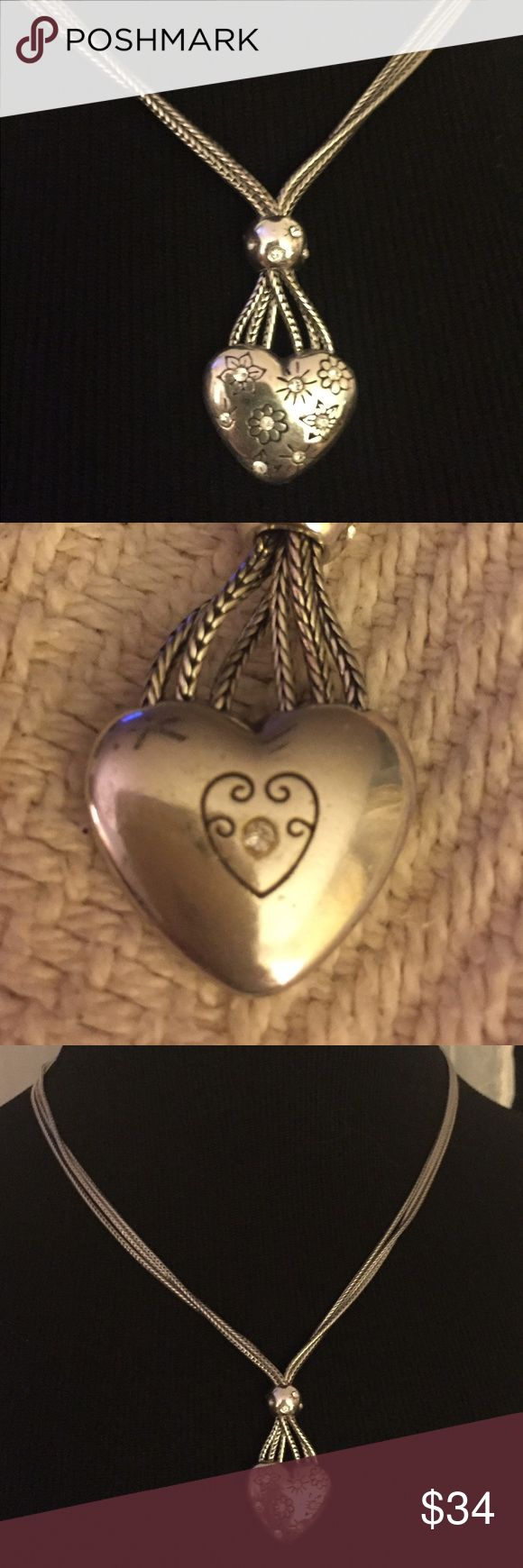 Beautiful Brighton Heart Necklace Authentic retired Brighton heart necklace. It is in very good condition.  it will come with a Brighton jewelry pouch. Brighton Jewelry Necklaces