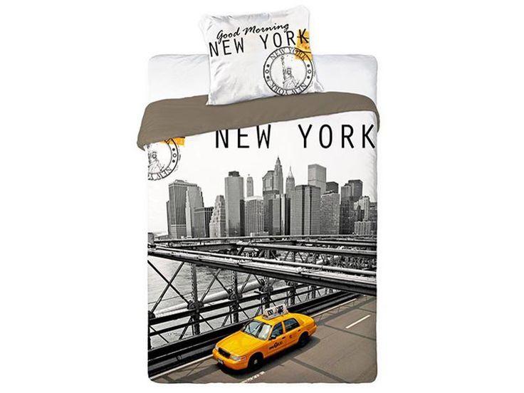 Pościel młodzieżowa City New York Cab 160x200