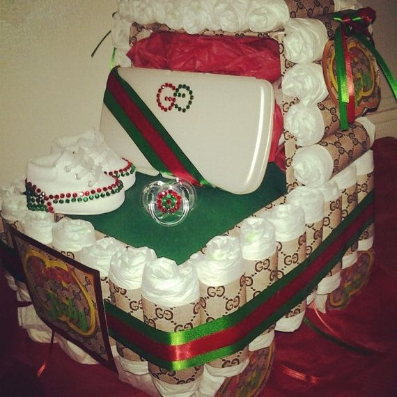 Gucci Inspired BABYSHOWER DIAPER CAKE Stroller By