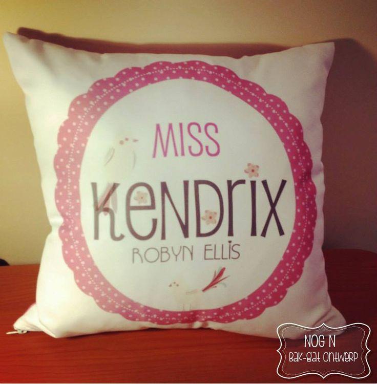 Personalised children's cushion