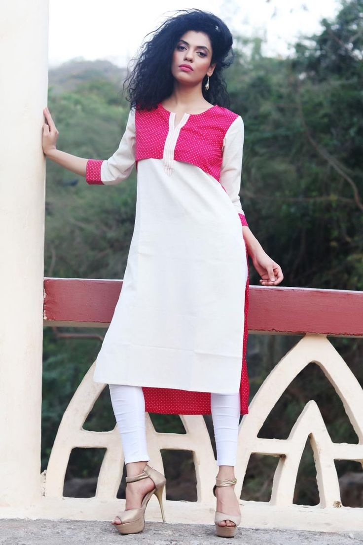 #Lalgulal #White #Pink Fluidic #Linen Latest #Stylish #Readymade #Indo-#Western #Kurti Buy Now :- http://goo.gl/ra9nI2 To Order you Call or #Whatsapp us on +91-95121-50402. #COD & #FreeShipping Available only in India.
