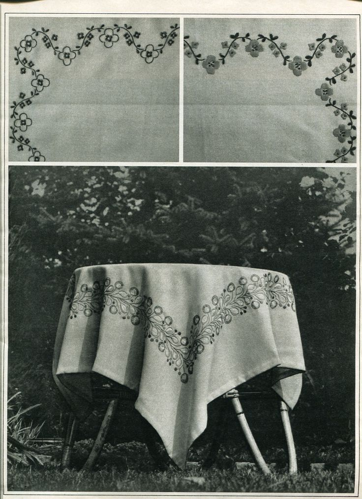 06 - #Embroidery for #tablecloth. #80s #soviet #magazine