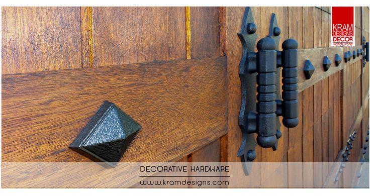 Transform a Sectional garage door to a garage door that looks like it swings open with Kram Designs Decorative Hardware