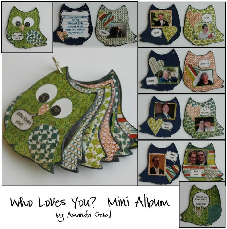 Mini Owl Chipboard Album by Maya Road. I have several of these babies I'm gonna have to dig them out & alter them now!!