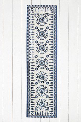 Euphrates 2x8 Blue Rug