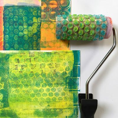 Tutorial: Beautiful Image Transfers on Gelli® Printed Backgrounds with @BirgitKoopsen! Now you are ready to start printing, and you know how it is when you start Gelli® printing, right?! It is impossible to make just one print so make sure you have a nice stack of paper on hand ☺
