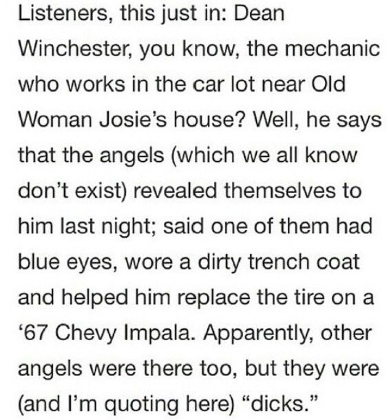 MYGAWDS YES Supernatural x Welcome to Nightvale crossover