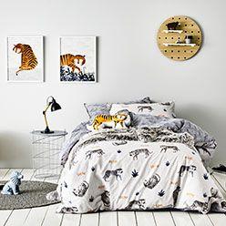 Tip Toe Tiger Quilt Cover Set - Adairs Kids