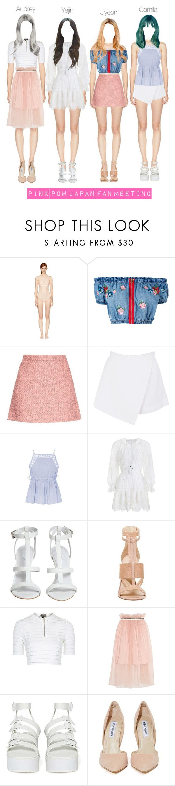 """""""Pink Pow Japan Fan Meet"""" by celesteneo ❤ liked on Polyvore featuring STELLA McCARTNEY, House of Holland, Gucci, BeginAgain Toys, Zimmermann, Topshop, Mother of Pearl, Y.R.U. and Steve Madden"""