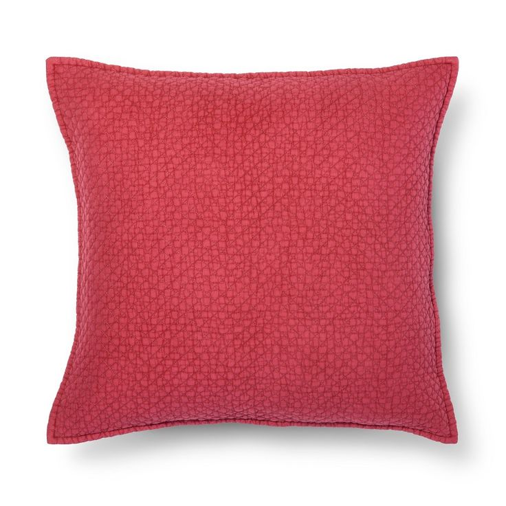 Red Washed Cotton Oversized Throw Pillow - Threshold
