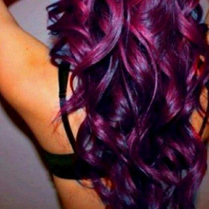 Purple Hair #paulmitchell #pmtsdanbury #hair #color #purple #violet #fun #loosecurls #hair #style #paul #mitchell #danbury #love #school #learn #academy #inspiration #long